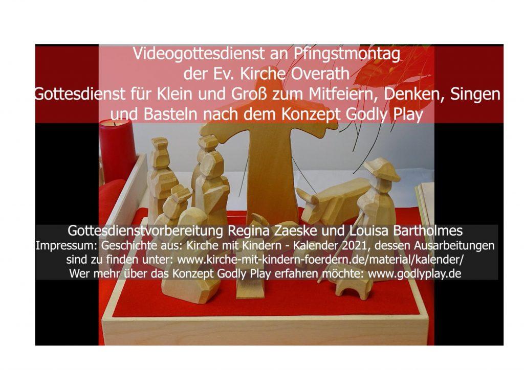 Video-Gottesdienst an Pfingstmontag, den 24.05.2021